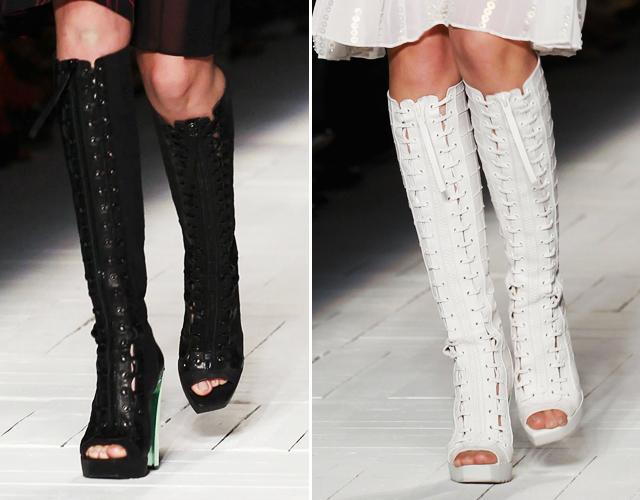 Tendência de sapatos para o verão 2013: Sandálias gladiadoras - Fotos e modelos