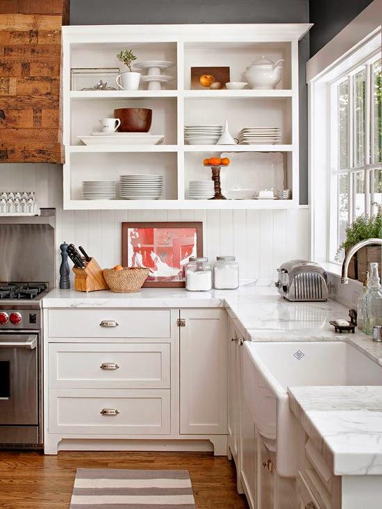 white organized kitchen