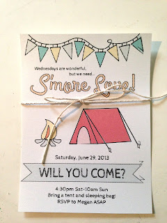summer sleepover invitations