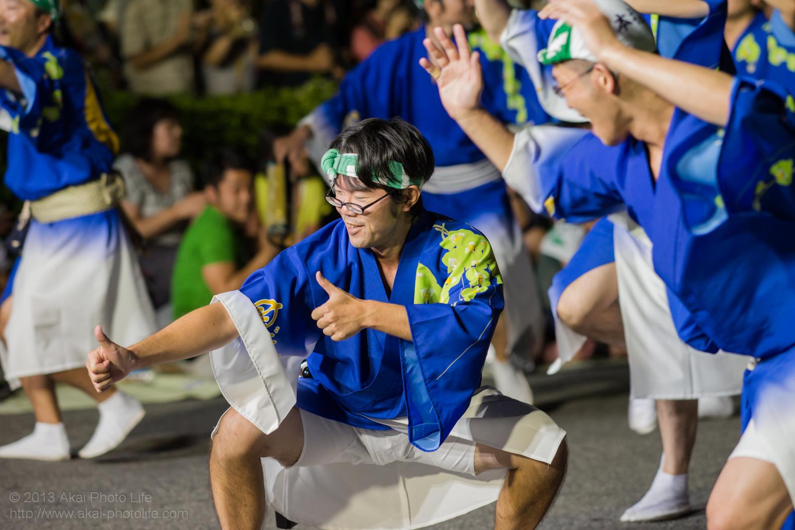 高円寺阿波踊り 指圧連の男踊り