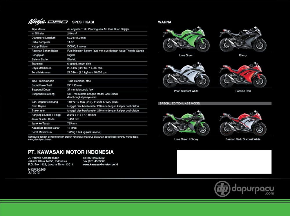 Specs from Indonesian website