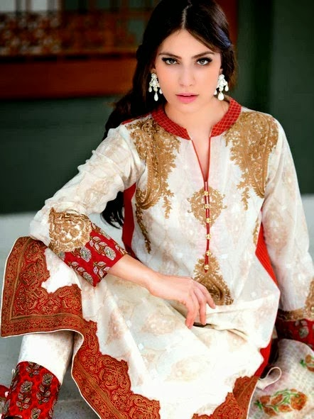 Gul Ahmed Premium Embroidered Chiffon Dresses