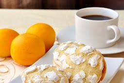 Lemon Cream Cheese Crackle Cookies