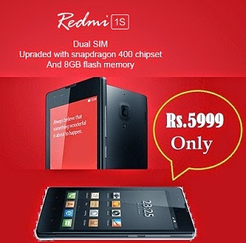 Xiaomi Redmi 1S Mobile launched exclusively @ Flipkart for Rs.5999 (Regn Open till 19th Jan'15 for Sale on 20th Jan'15 – 5 PM )