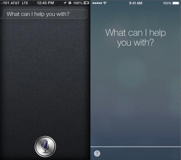 iOS 7 Vs iOS 6 Siri