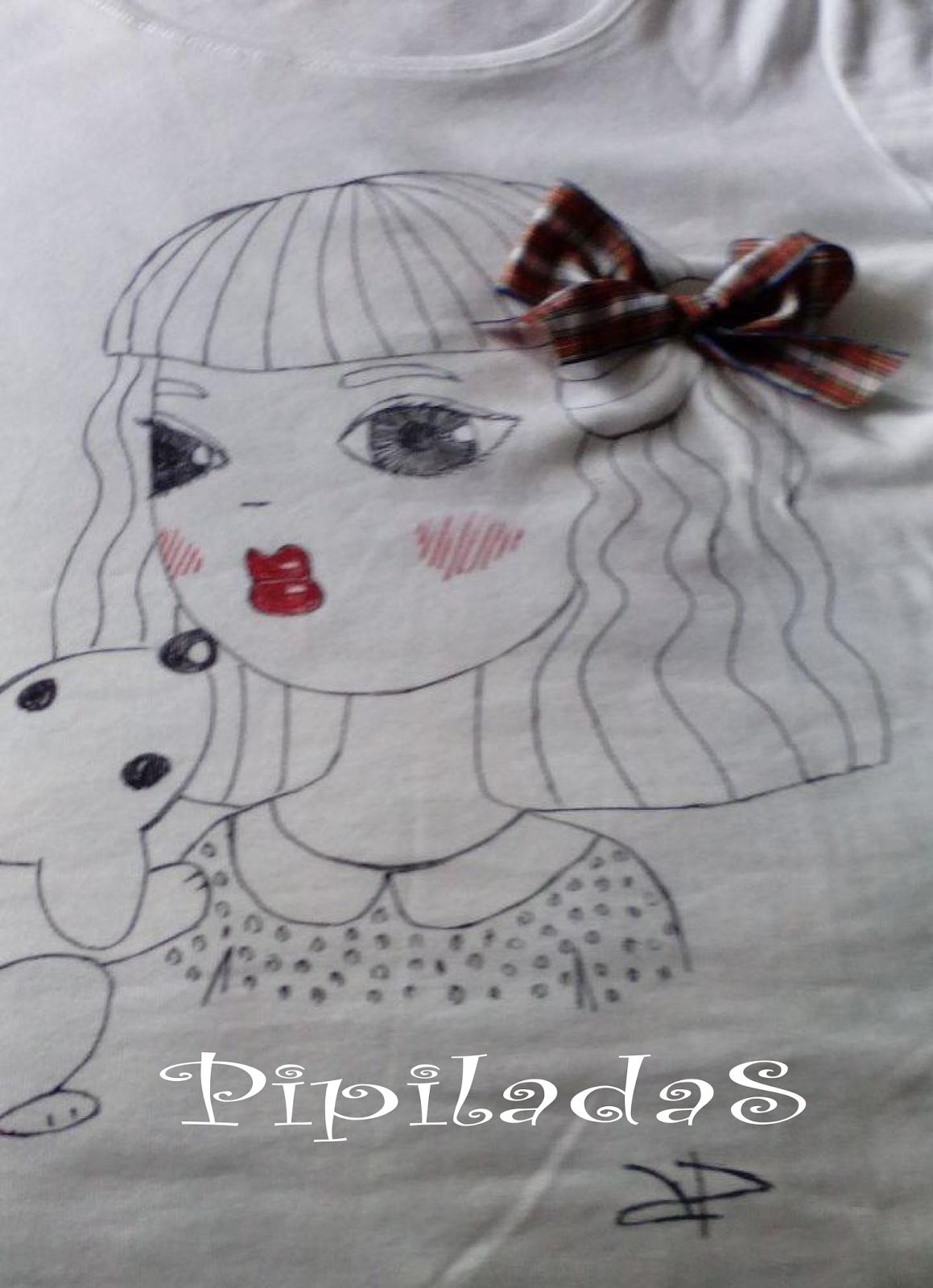 Dibujo en camiseta personalizado con un lazo
