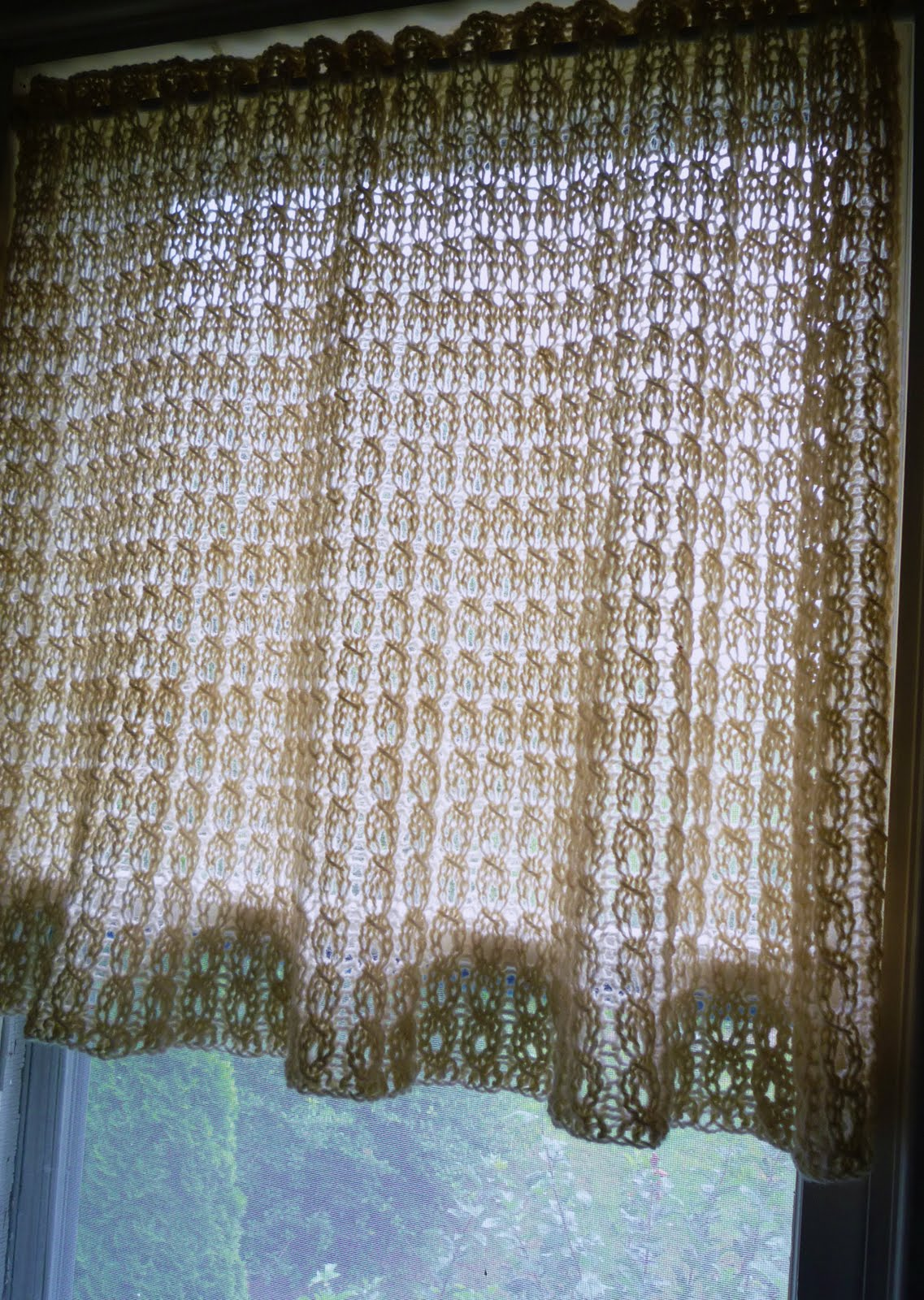 Free Knitting Patterns For Lace Curtains : Wool curtains? Only if the wool is free. Images - Frompo
