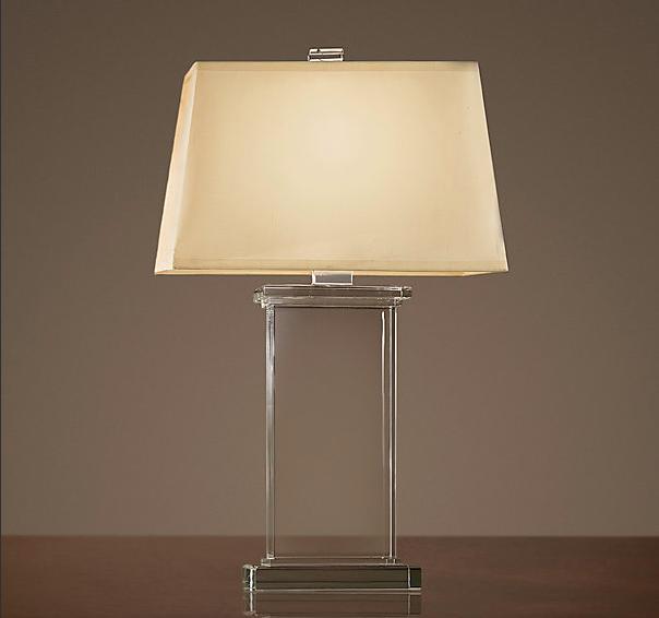 Copy cat chic restoration hardware crystal pier table lamp - Restoration hardware lamps table ...