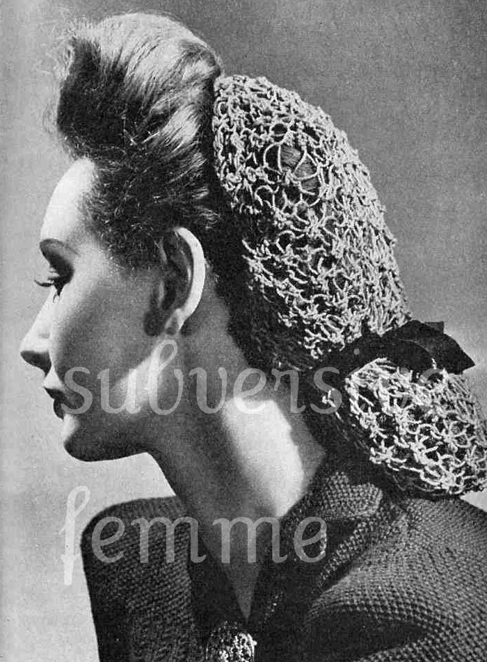 The Vintage Pattern Files 1940s Knitting Coloured Snood