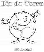 Desenhos Dia da Terra para Colorir. Desenhos para comemorar o Dia da Terra . (dia da terra de abril colorir)