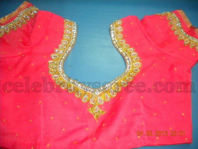 Beads Work Glitter Blouses