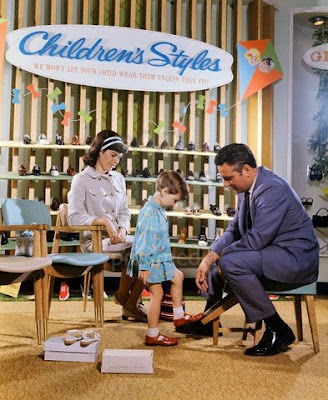 Kid's shoe store 1960s retro vintage