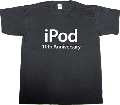 ipod apple disruptive music business t-shirt ephemeral-t-shirts