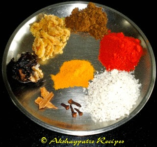 grated coconut, jaggery and other ingrds