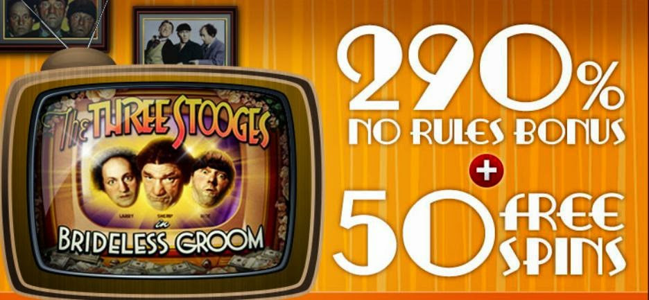 290% No Restrictions Bonus RTG Casinos - BRIDELESS290