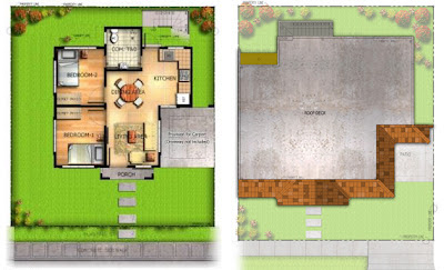 Molave House Model Floor Plan at Villa Montserrat Taytay
