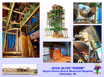 indoor play structure, tree house, Iplayco, JCCA, AL!VE, GROW, themed indoor playground, indoor play structure, custom tree
