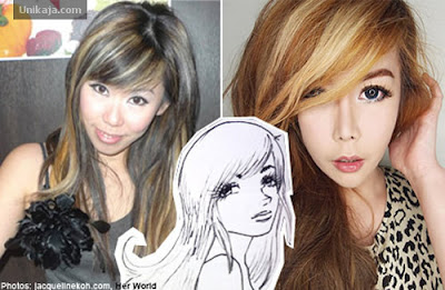 image 1 Demi Cantik Mirip Gadis Anime, Wanita ini Rela Bongkar Pasang Wajah 10 Kali