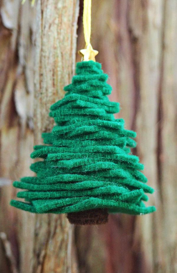 Haz un mini rbol de navidad en fieltro lodijoella - O arbol de navidad ...