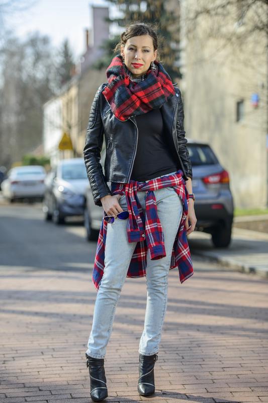 marmurkowe jeansy fashionblogger