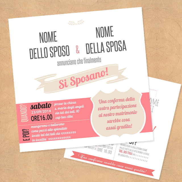 diy wedding invitation - Simona S.