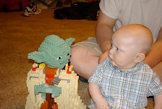 Funny picture: baby and Legos