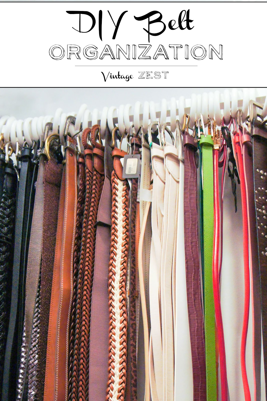 DIY Belt Organization (on a budget!) on Diane's Vintage Zest