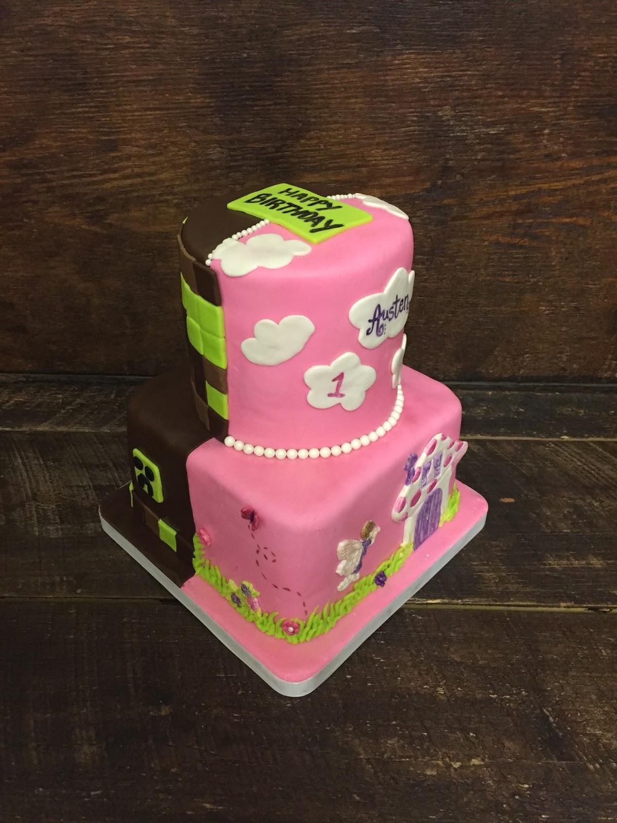 Sweet Ts Cake Design Mine Craft Fairy Princess Combo Birthday