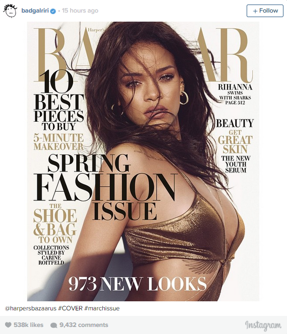 Rihanna Swims With Sharks In Sneak Peek Of Harper's Bazaar Cover Photo Shoot