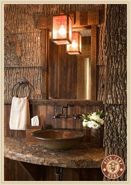20 Rustic Bathroom Designs The Grey Home