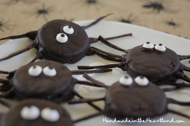 Chocolate Covered Oreo Spiders