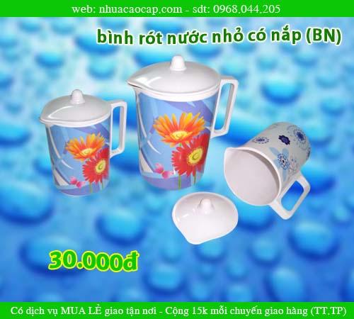 Ca rót nước, Bình nhựa rót nước có nắp, Bình rót nước, BÌNH NHỰA nhỏ
