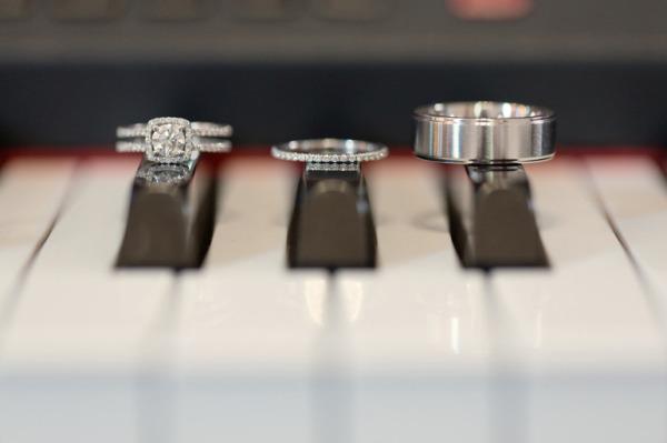 Blue piano wedding