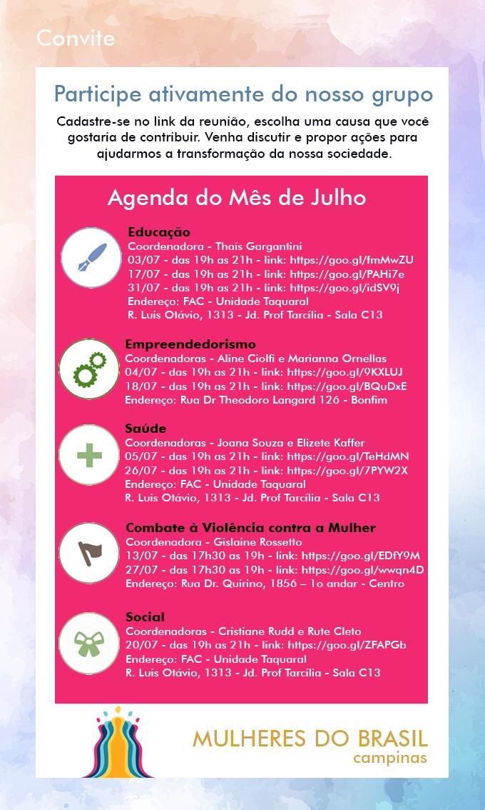 Núcleo Mulheres do Brasil em Campinas