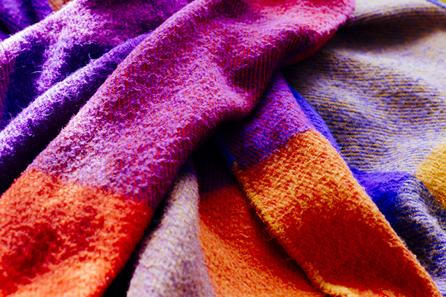 colourful woolen blanket