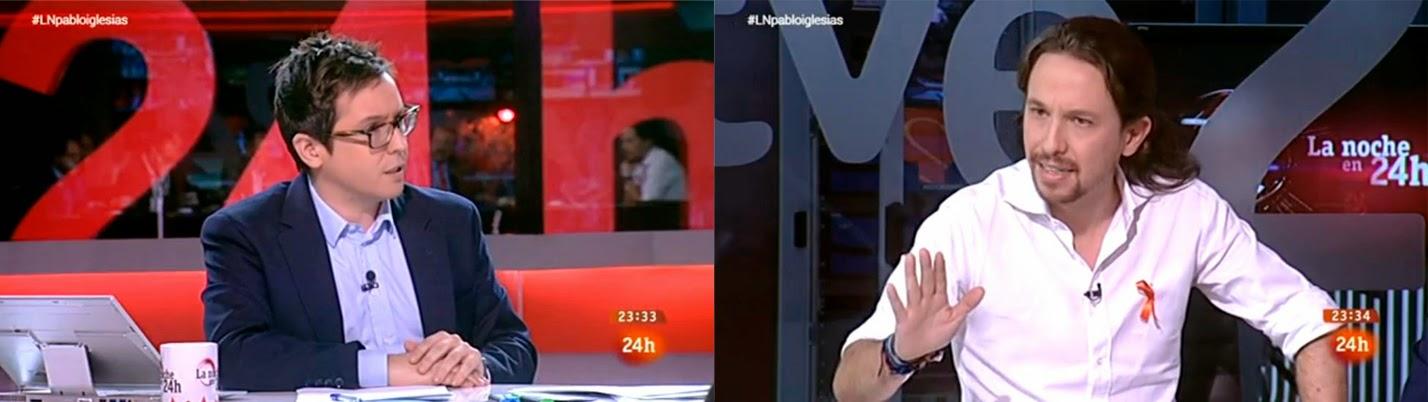 Pablo Iglesias en 'La noche en 24 horas'