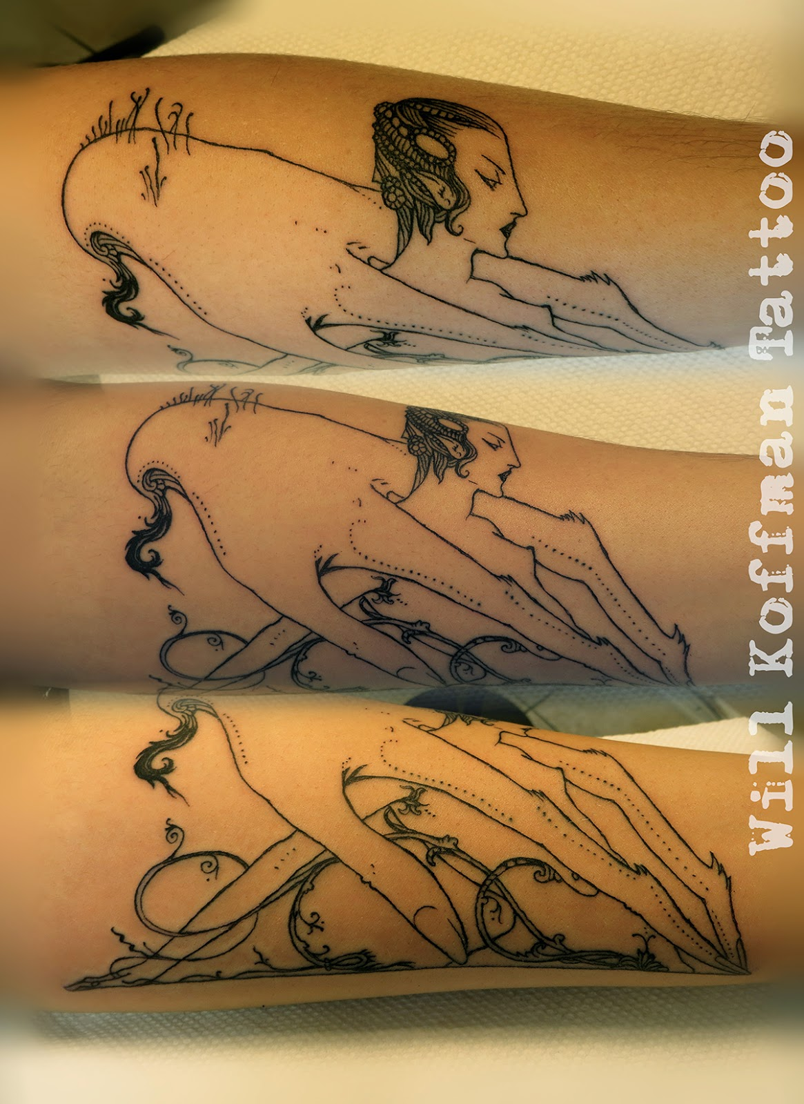 Will koffman tattoo fine line illustration for Tattoo artists orange county