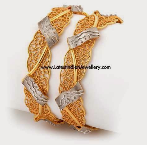 Chunky Designer Gold Bangles