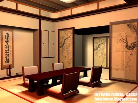 Japanese dining room, Japanese interior design