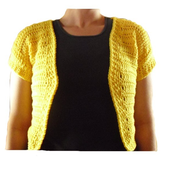 * Knit and Crochet Talker *: Short sleeve bolero Pattern