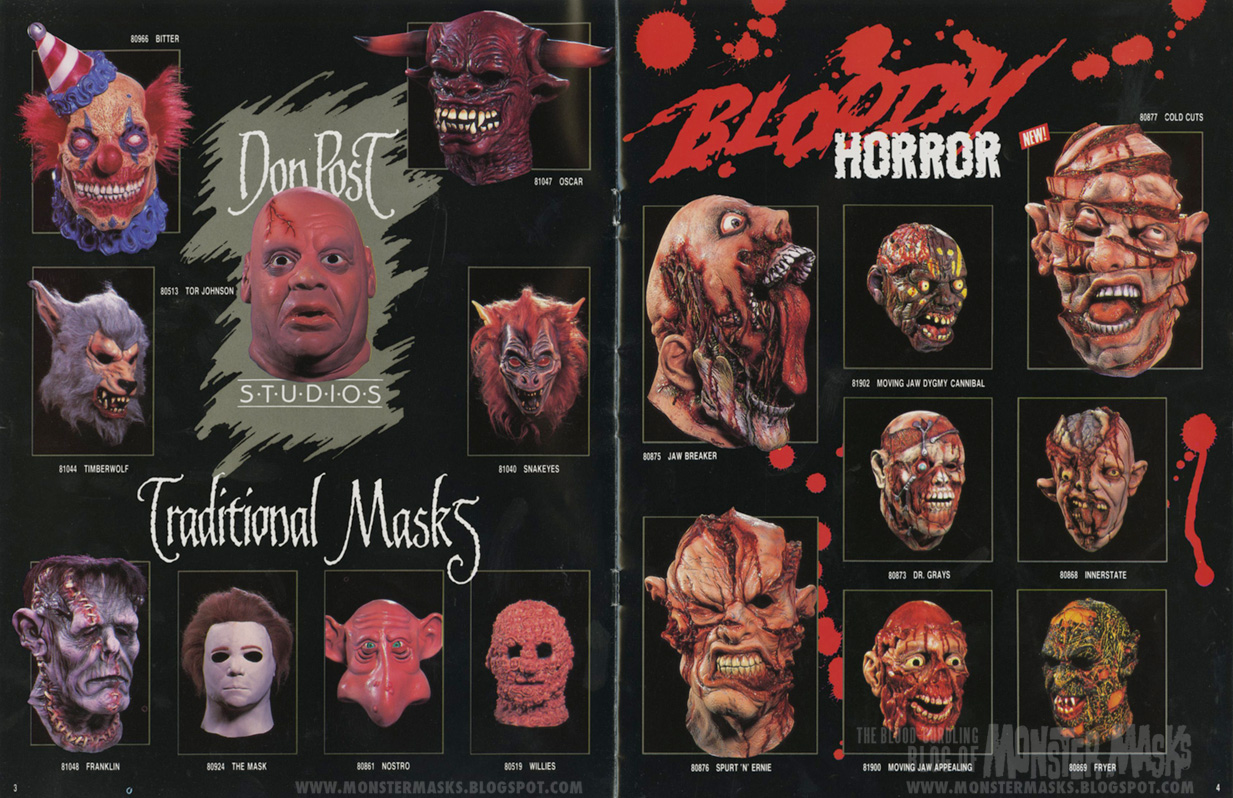 dungeon of pain line up and the halloween classics line up which would all remain staples in catalogs to come throughout the rest of the decade - Halloween Catalogs