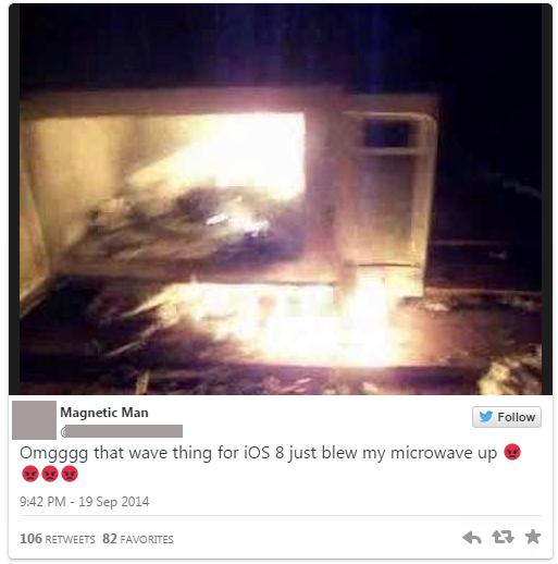 "The ""Wave Hoax"": iOS 8 Features Microwave Charging Abilities??"
