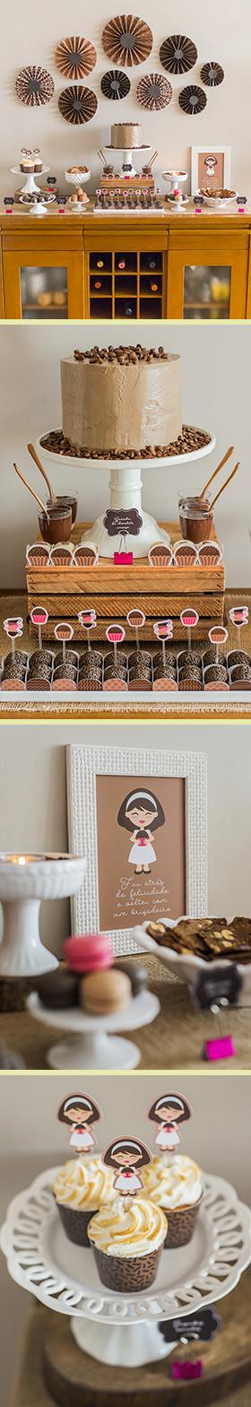CAFÉ & BRIGADEIRO: 10 papéis digitais + elementos para decorar um lanche com as amigas
