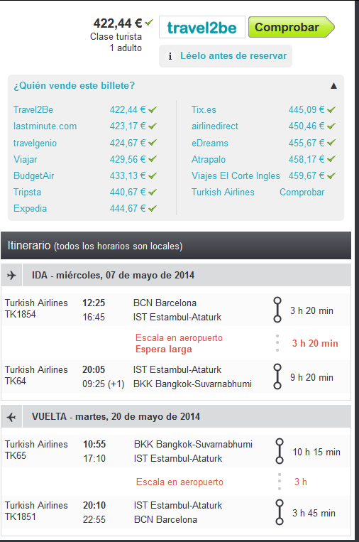 Tailandia Turkish Airlines