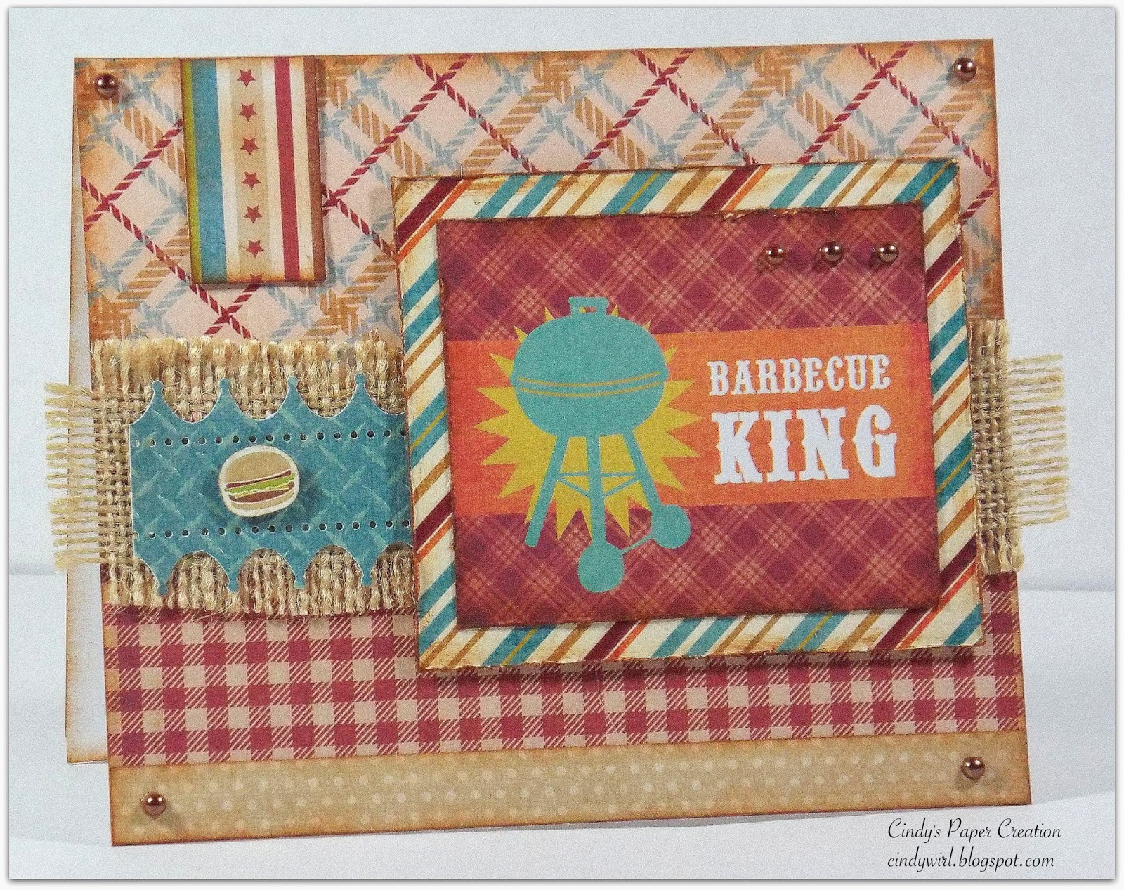 Handmade birthday card by Cindy's Paper Creation, Barbeque King