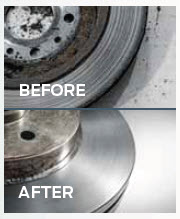 Rotor Resurfacing Before & After