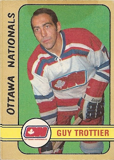 guy trottier ottawa nationals hockey card 1972-73 o-pee-chee wha