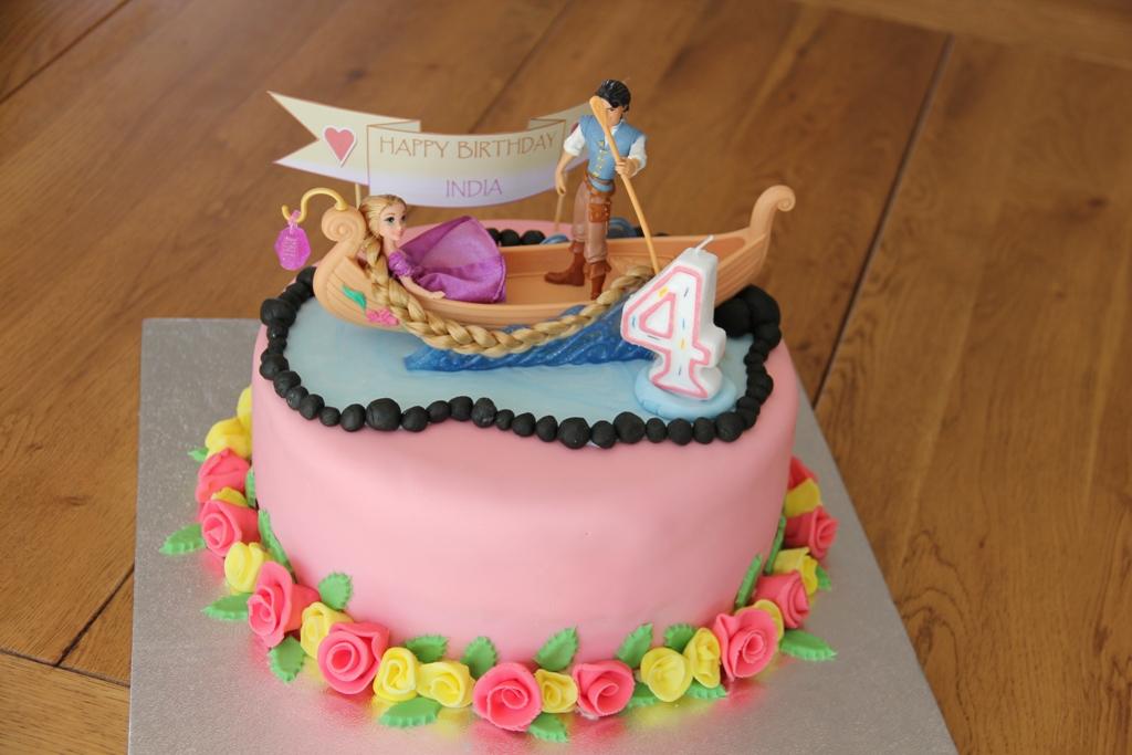 Chez Jacqueline Rapunzel Birthday Cake