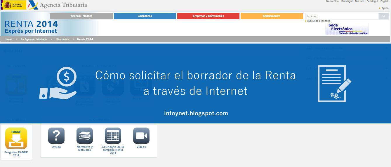 Cómo solicitar el borrador de la Renta por Internet