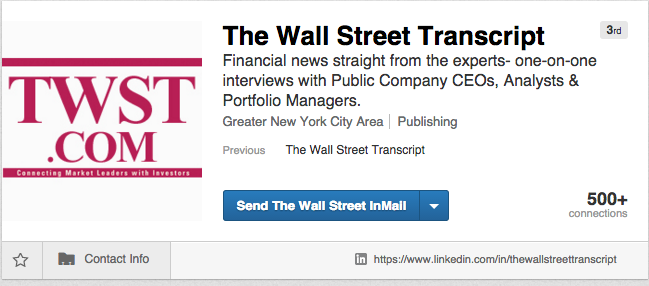 Linkedin Fake Profiles The Wall Street Transcript